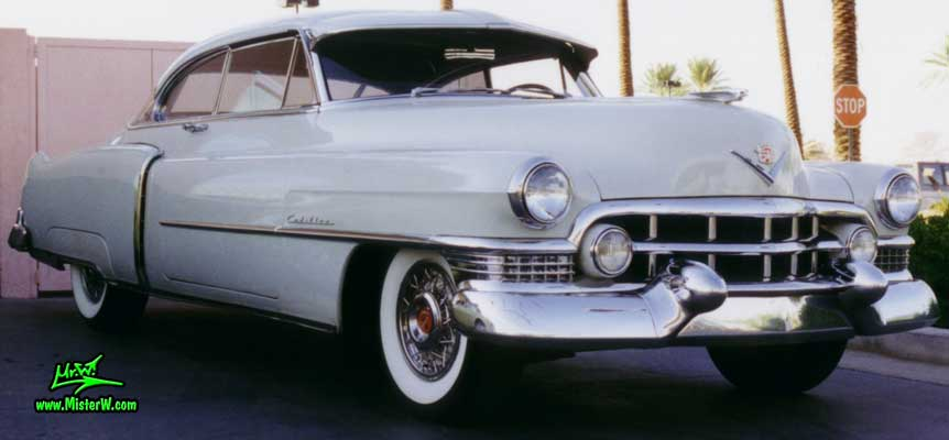 White 1951 Cadillac Coupe  1951 Cadillac Series 62 Coupe