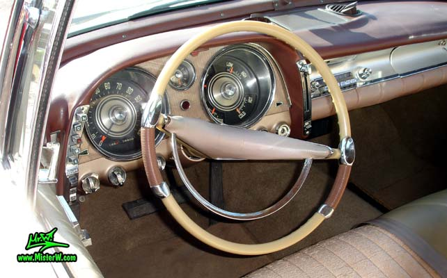 Dashboard  Speedometer of a 57 Imperial  1957 Imperial