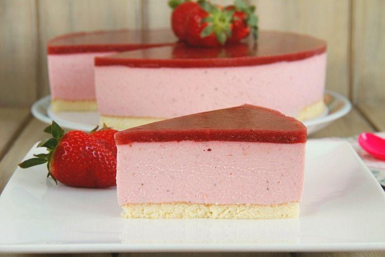 Tarta de fresas y mascarpone  Recetas Thermomix