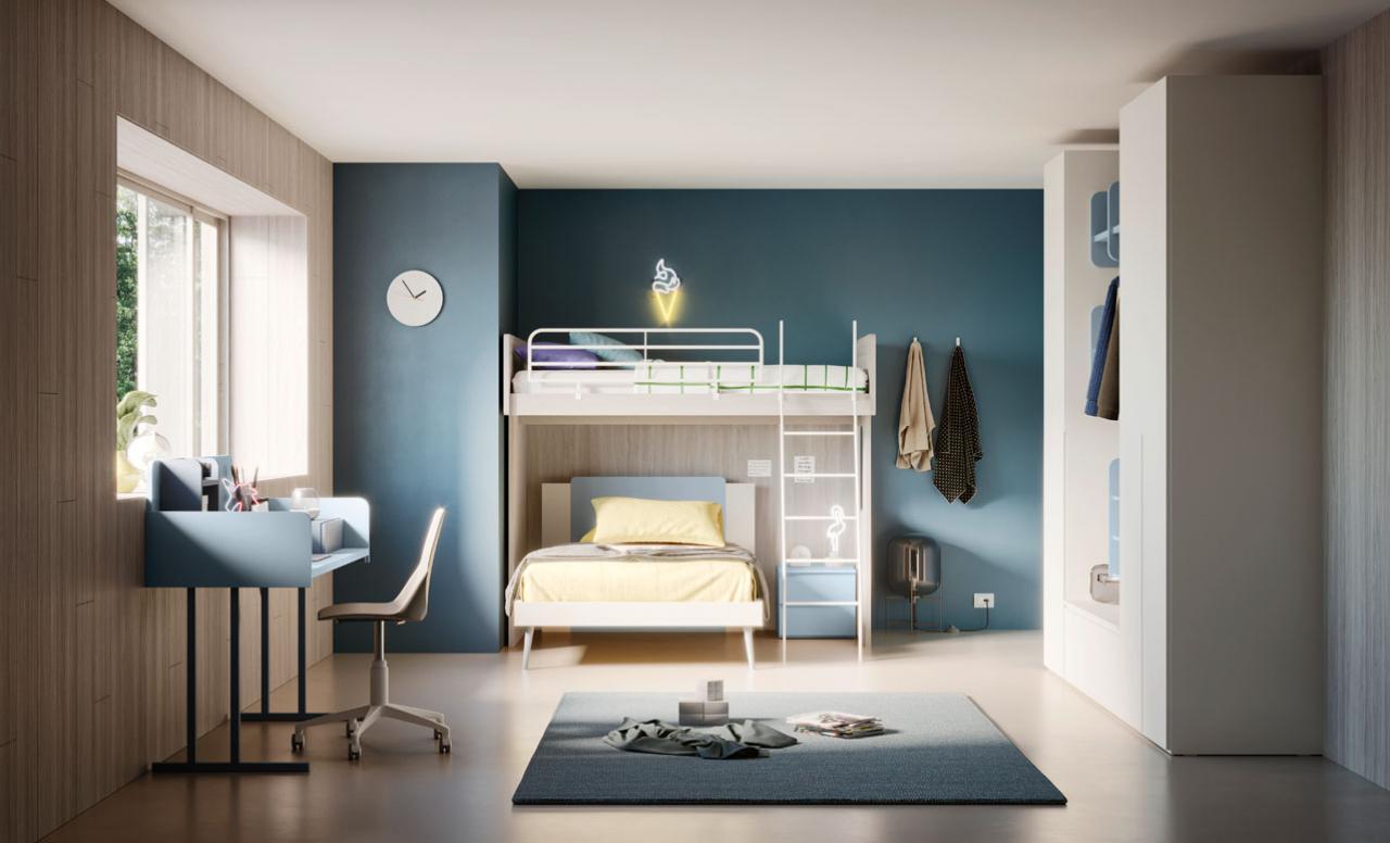 Cameretta a soppalco 3 letti in vendita in arredamento e casalinghi: Soluzioni D Arredo Per Le Camere Di Bambini E Ragazzi Mistral