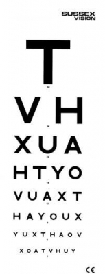 AW Eye Test Chart 6M with Patient Hand Card (AW341) from