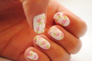 Diseño De Uñas Con Flores Vintage Decorados De Uñas
