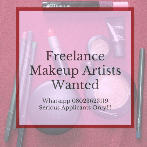 Freelance Makeup Artists Wanted.