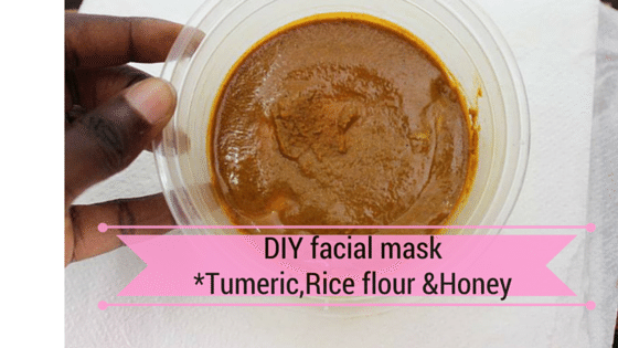 DIY Face Mask with Tumeric ,Honey & Rice Flour ( brighter glowing skin)