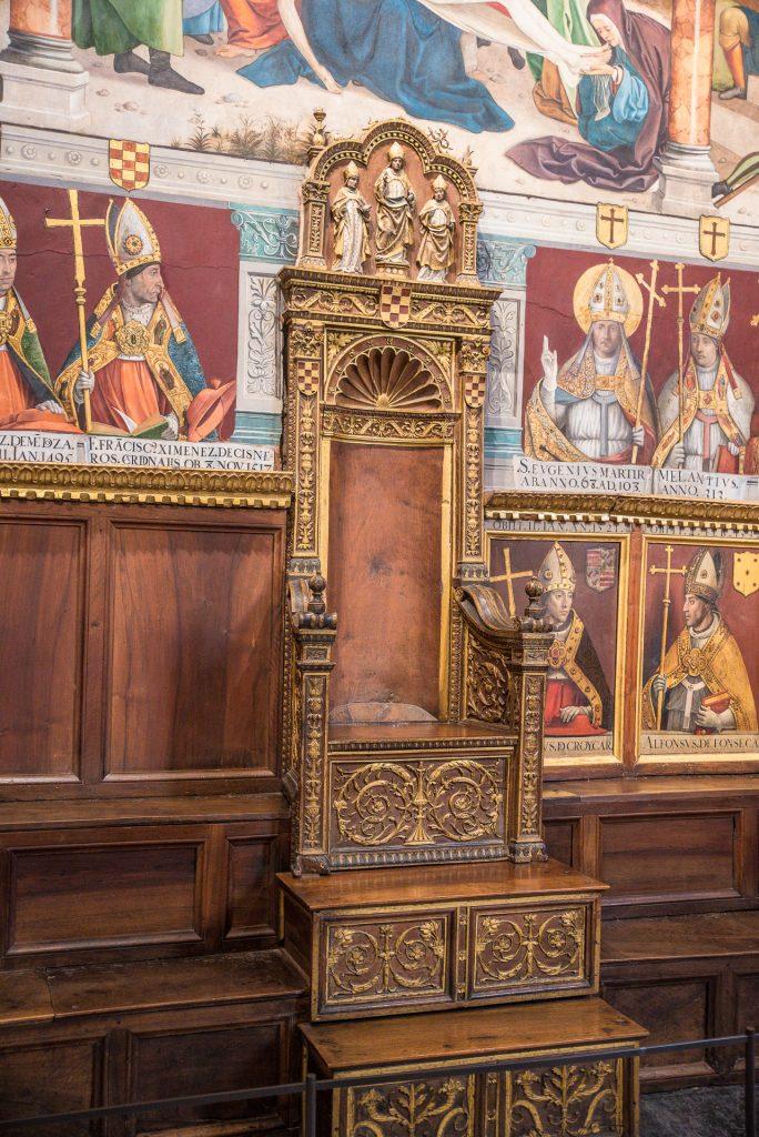 Bischofsstuhl - Kapitelsaal - Kathedrale von Toledo