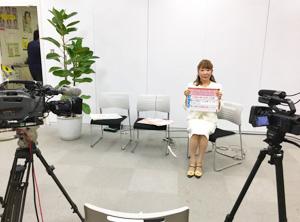 TBSの新番組宣伝で御瀧政子が深層心理テストを行いました