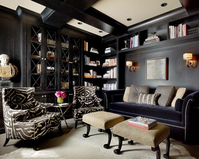 Grey Den Room With Beige Sofas