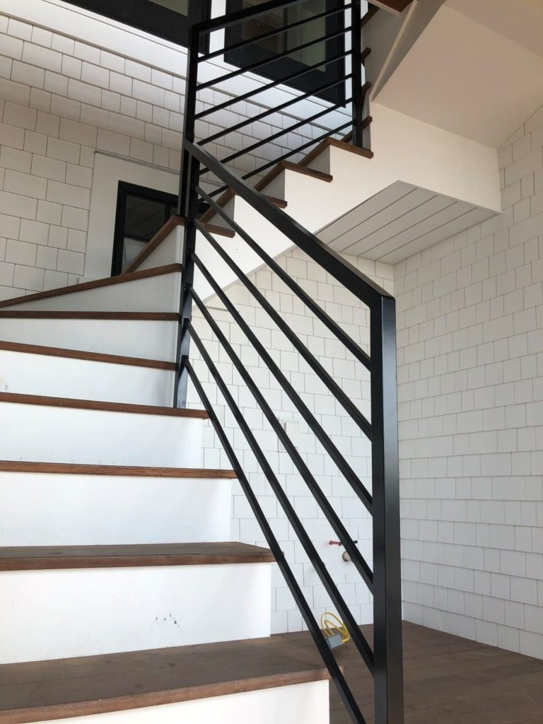 Mitchell Welding Iron Works Inc – Since 1951   Aluminum Stair Railings Interior   Wood   Decorative   Curved Metal   Copper   Cable