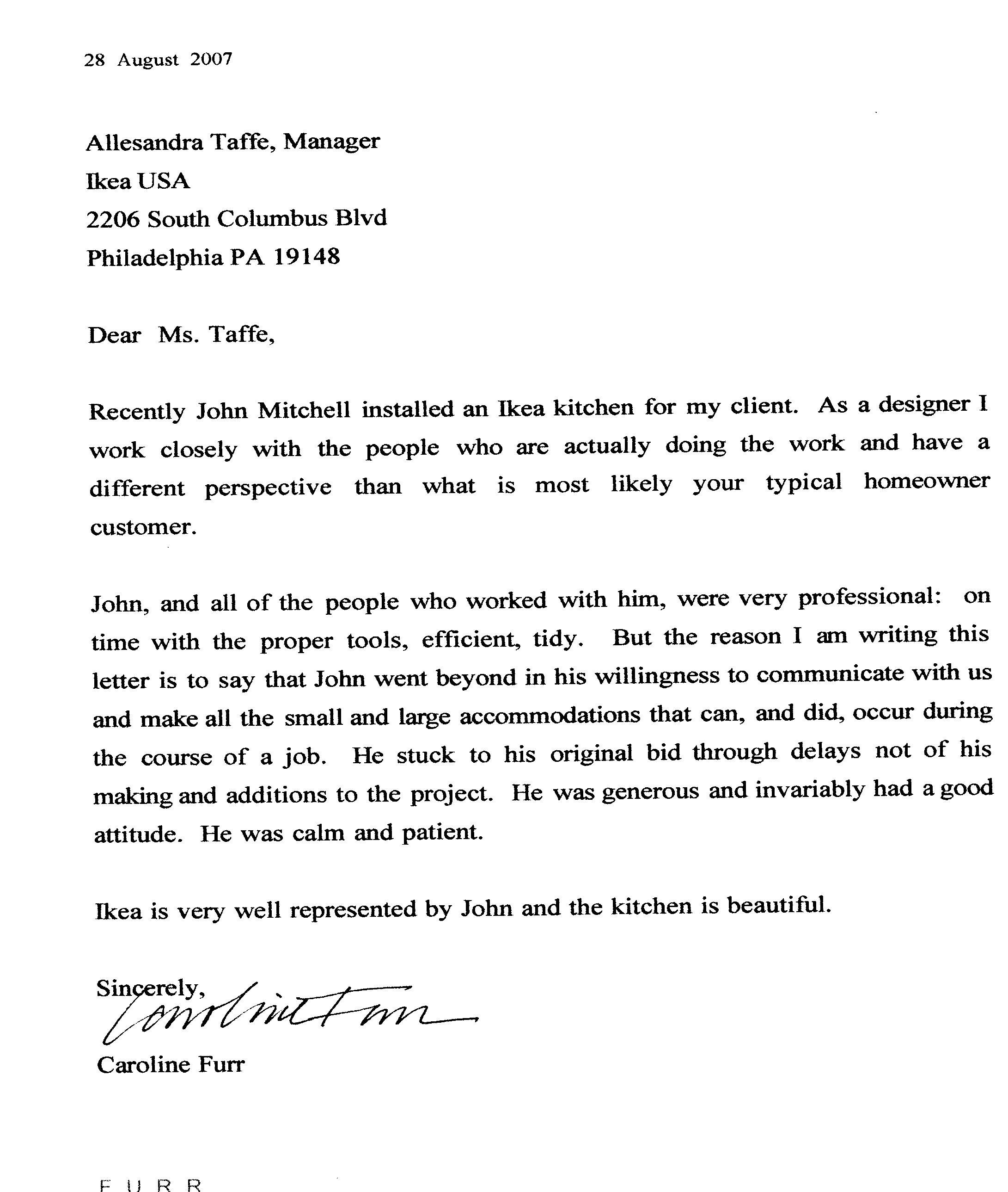 John Mitchell Renovations Testimonials