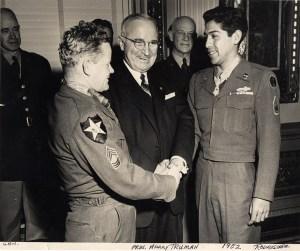 Joseph C. Rodriquez (right) with President Harry S. Truman 1952