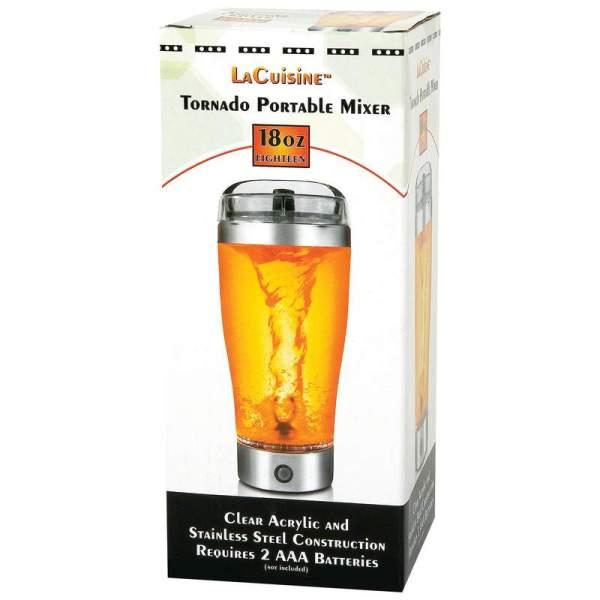 Lacuisine Clear Acrylic 18oz Tornado Portable Mixer