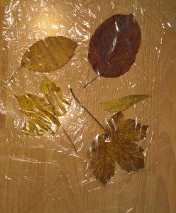 ... und legst eine zweite Schicht über die Blätter.