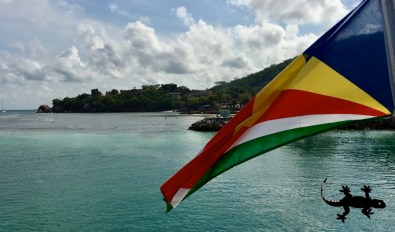 The flag of Seychelles