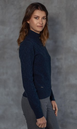 Sweater POLO W navy front