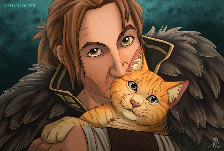 Anders and Sir Pounce-A-Lot