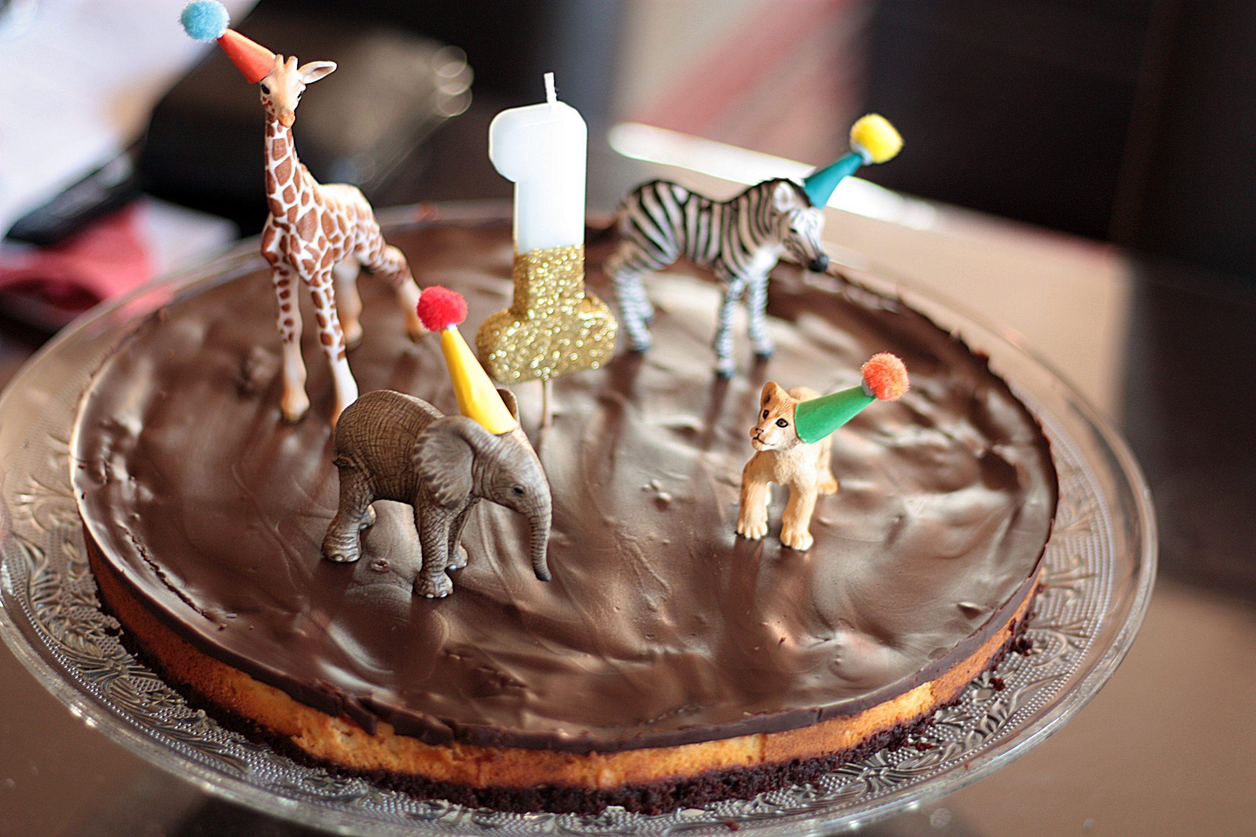 Brownie-Cheesecake zum ersten Geburtstag