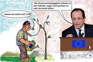 Francoise Hollandes Schleichwerbung
