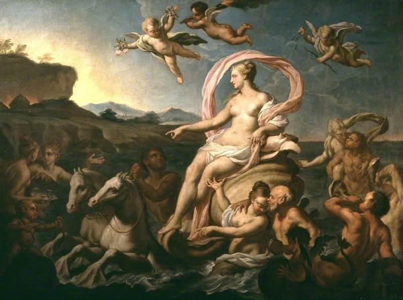 Amphitrite  Oceanus'un kızı Nerus ve Doris'ın 50 veya 100 kızından birisidir .