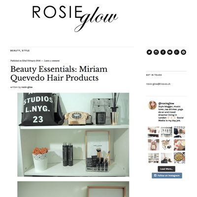 Rosie Glow Blogger Review of Miriam Quevedo