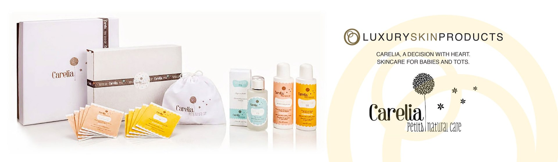 Carelia, a decision with heart. Skincare for babies and tots.