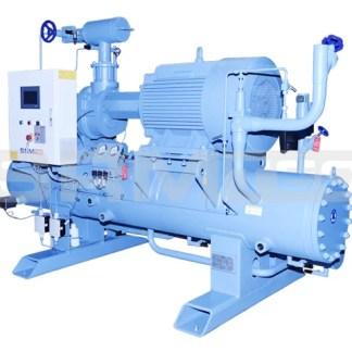 SRMtec - Compresores de amoniaco -Paquetes de tornillo de simple y doble etapa