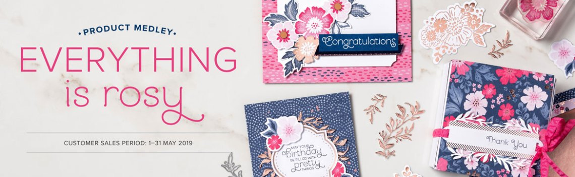 Everything is Rosy Product Medley Kit available from Mitosu Crafts online shop 24/7 while stocks last