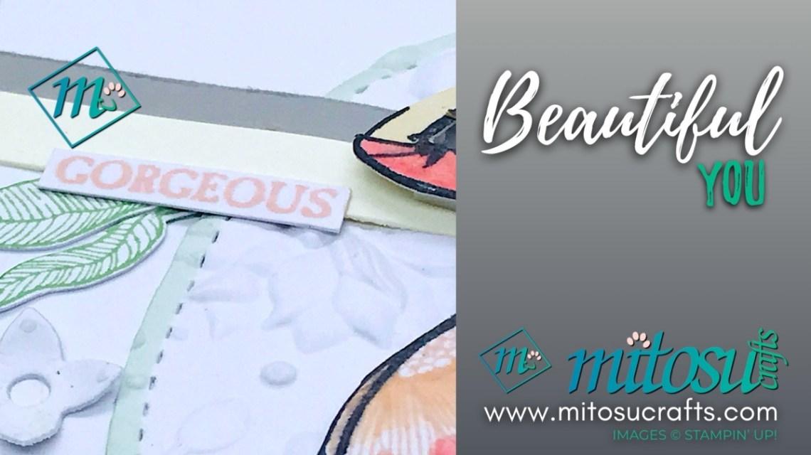 Beautiful You Stampin' Up! Card from Mitosu Crafts