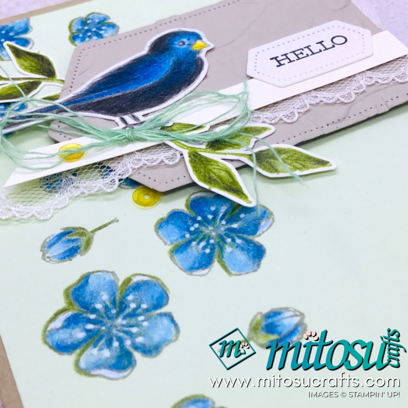 Hello Free As A Bird with Watercolour Pencils for Stamp Review Crew from Mitosu Crafts
