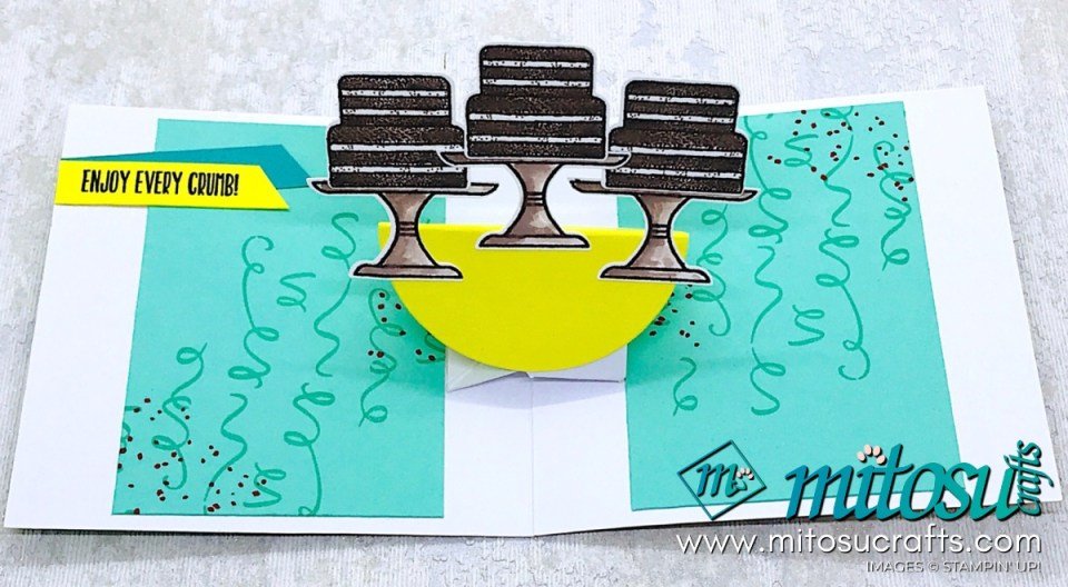 Piece of Cake Stampin' Up! Pop Up Twist Card Idea for Stamp Review Crew from Mitosu Crafts