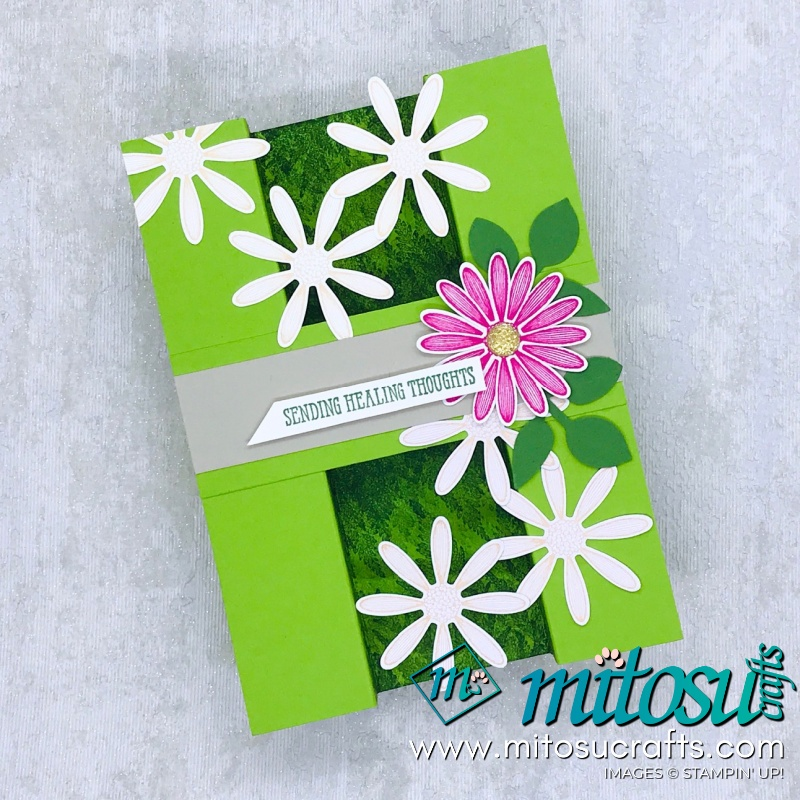Stampin' Up! Bridge Fold Daisy Lane Tutorial for Kylie Bertucci's International Top 10 Winners blog hop from Mitosu Crafts