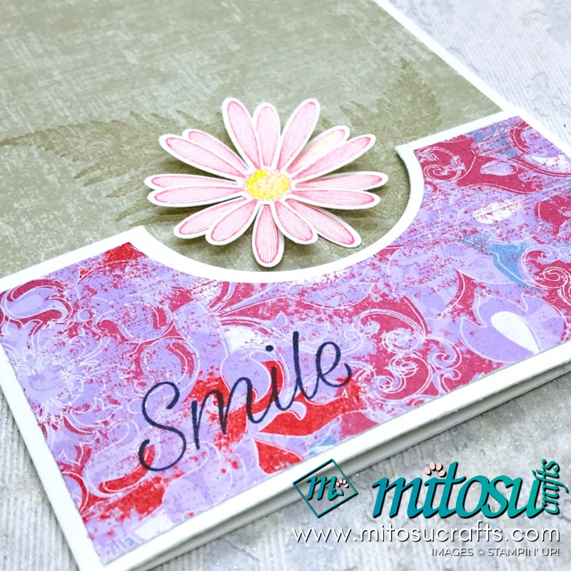Fancy Fold Daisy Lane Stampin' Up! Card Idea from Mitosu Crafts Facebook Live
