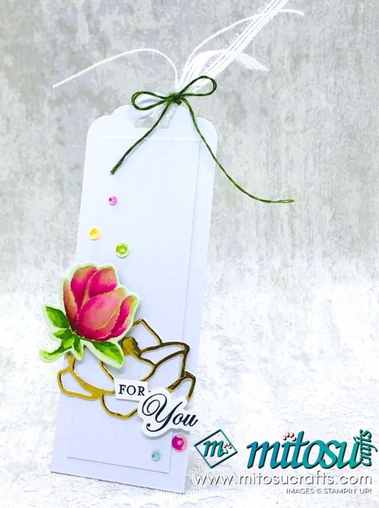 Good Morning Magnolia Stampin' Up! Gift Tag for Stamp Review Crew from Mitosu Crafts