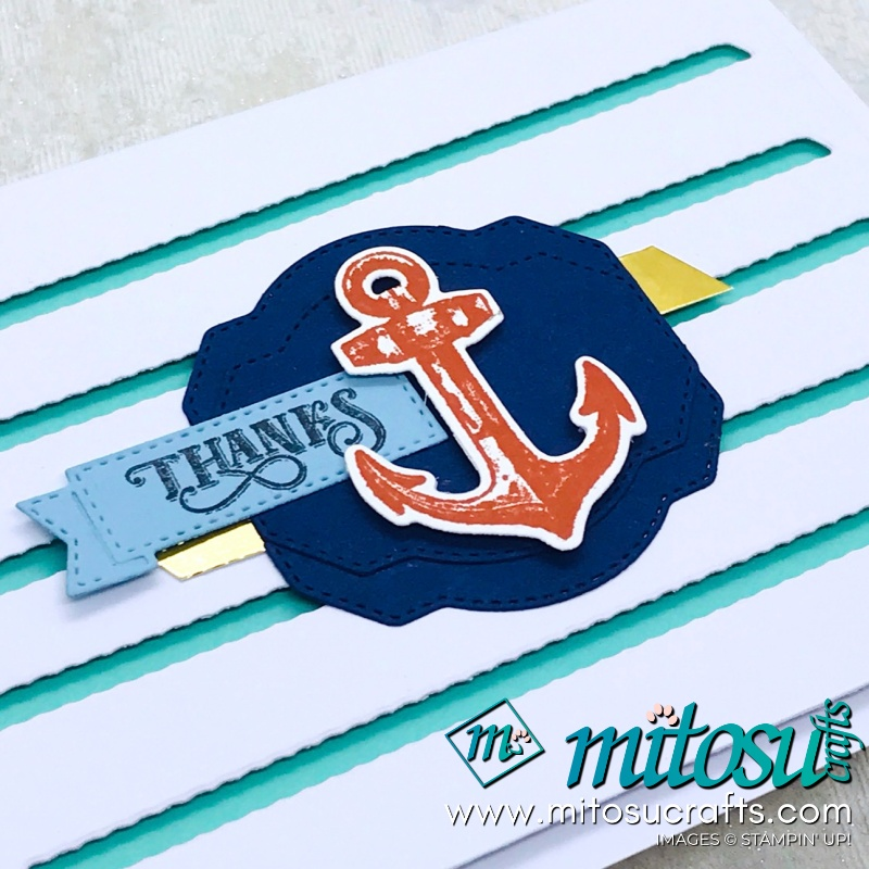 Modern Male Card with Smooth Sailing Die Background for Paper Craft Crew Challenge from Mitosu Crafts