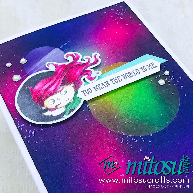 New Wonders Galaxy Background with Stampin' Up! products from Mitosu Crafts