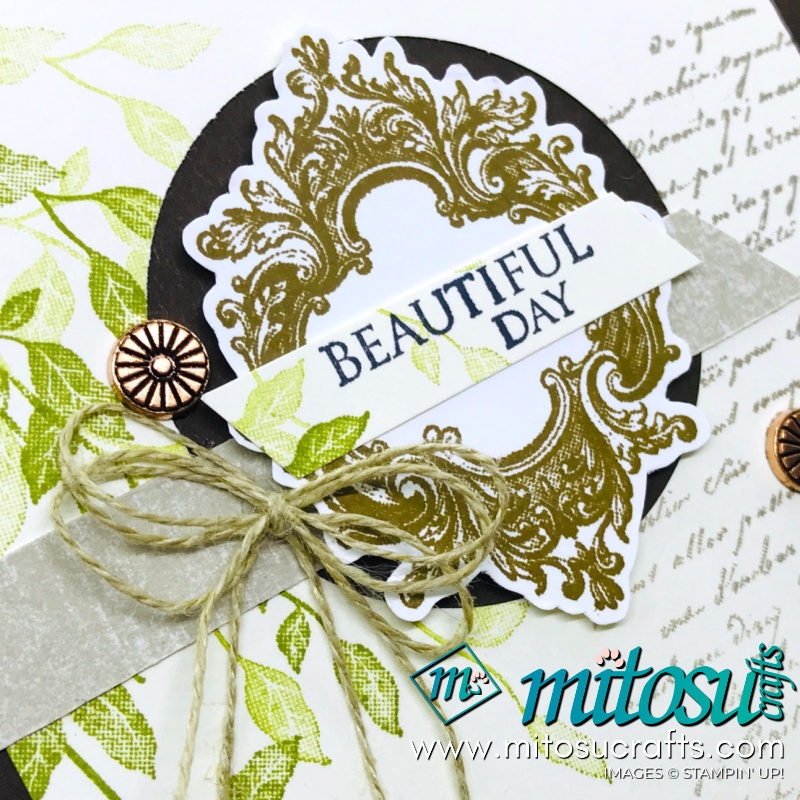 Very Versailles Stampin' Up! Card Idea from Mitosu Crafts Facebook Live
