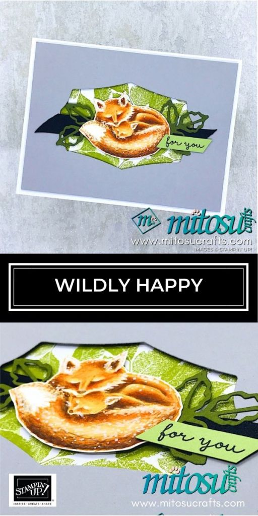 Wildly Happy in Watercolor Pencils by Stampin' Up! Cardmaking Inspiration from Mitosu Crafts