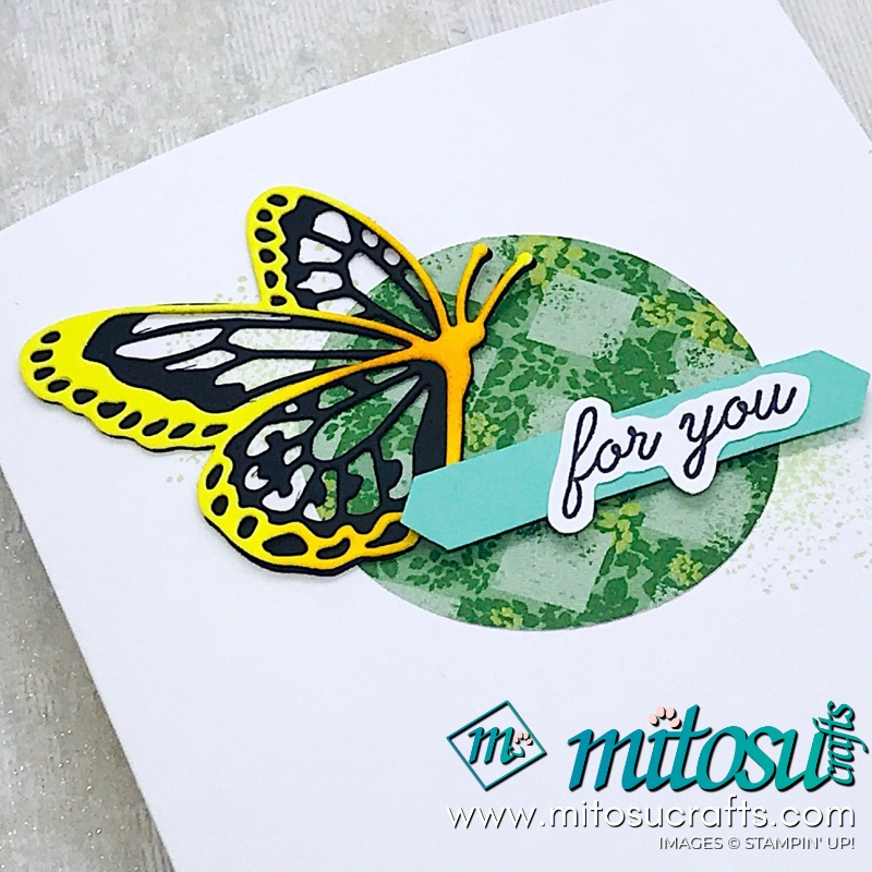 Spinner Pop Up Wiper Card with Butterfly Beauty by Stampin' Up! from Mitosu Crafts
