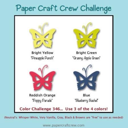 Paper Craft Crew Colour Challenge Inspiration #PCC346 from Mitosu Crafts