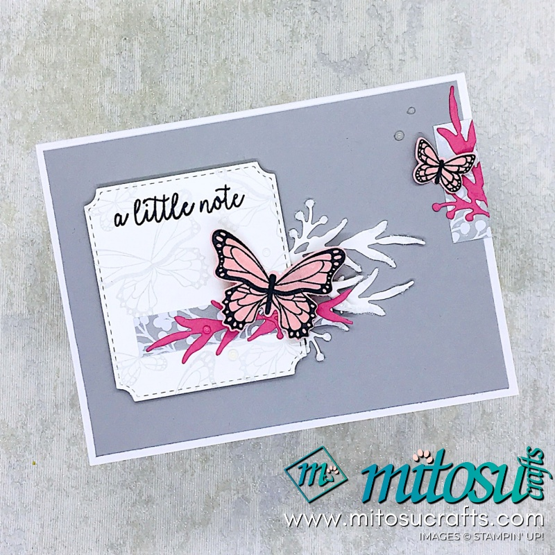 Stampin' Up! Frosted Frames Dies Butterfly Gala Stampin' Up! Card Idea for Paper Craft Crew Sketch from Mitosu Crafts