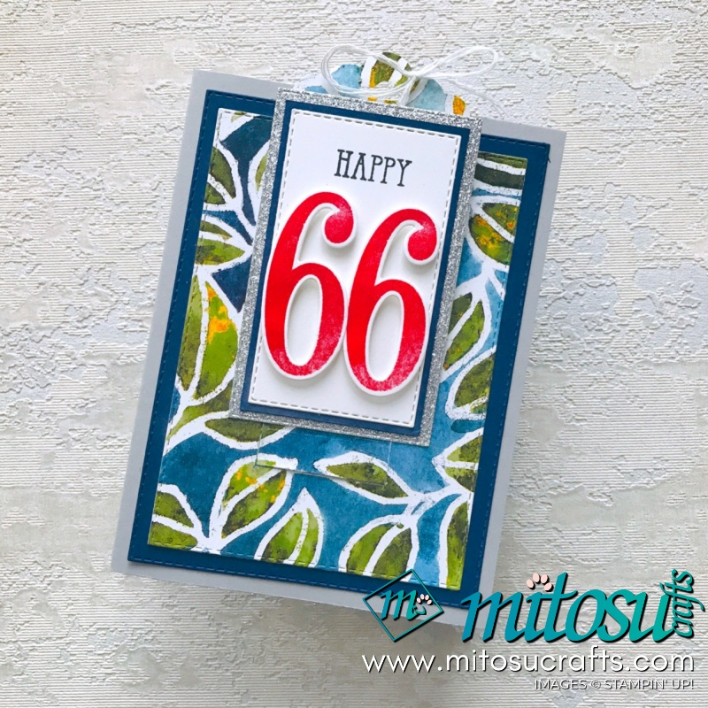 Stampin' Up! See A Silhouette DSP Slider Pop Up Card from Mitosu Crafts