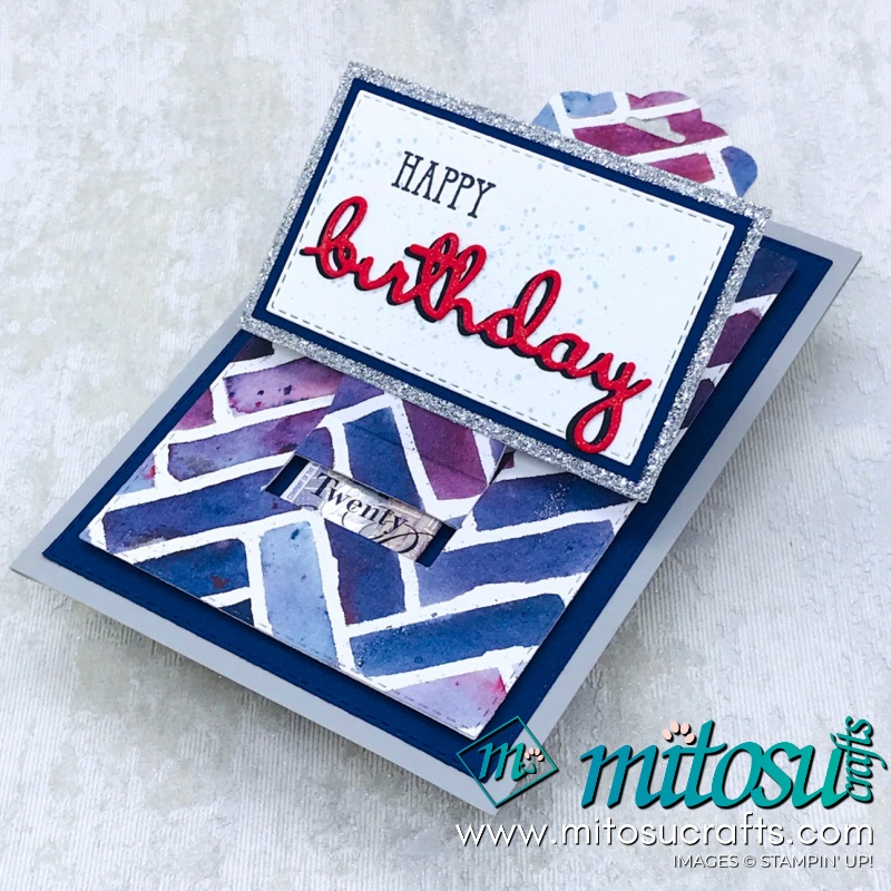 Stampin' Up! See A Silhouette Pop Up Slider Money Holder Card for The Gentlemen Crafters Design Team Hop from Mitosu Crafts