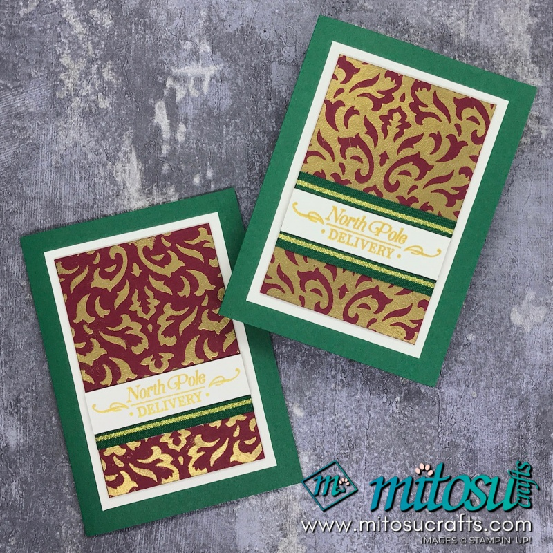 Basic Pattern Decorative Mask with Perfectly Plaid Stampin' Up! Card for The Gentlemen Crafters Design Team Hop from Mitosu Crafts