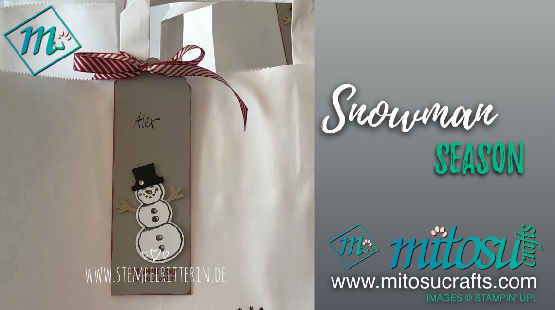 Snowman Season Stamp Set available from Mitosu Crafts online shop 24/7