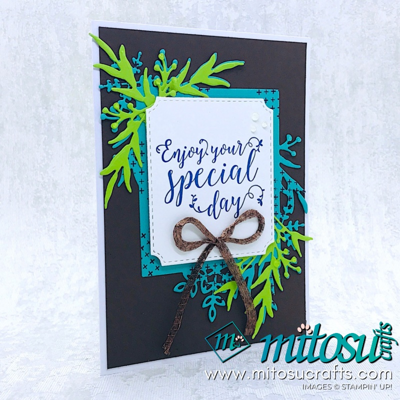 Stitched All Around & Frosted Frames Stampin' Up! Card from Mitosu Crafts