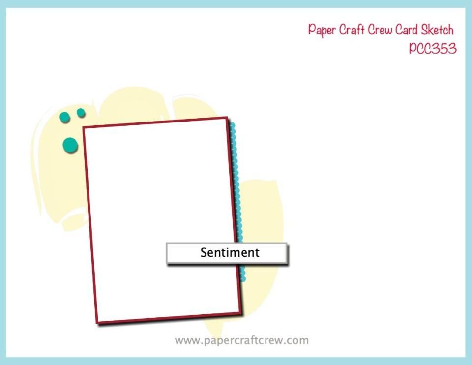 Paper Craft Crew Card Sketch Challenge Inspiration PCC353 from Mitosu Crafts