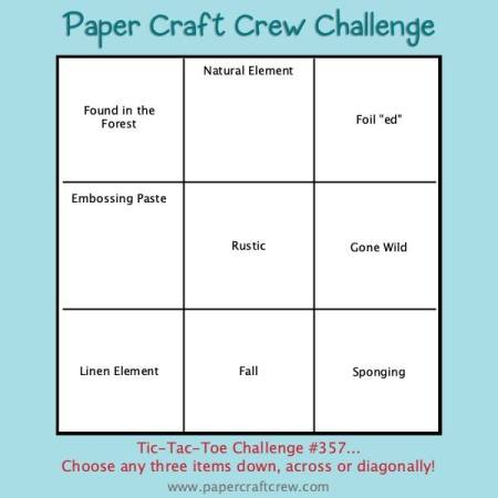 Paper Craft Crew Tic Tac Toe Challenge 357 from Mitosu Crafts