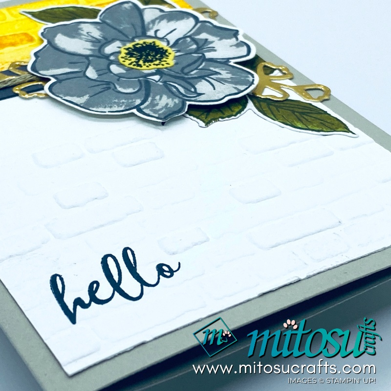 To A Wild Rose Stampin Up! Card for Paper Craft Crew Challenge from Mitosu Crafts