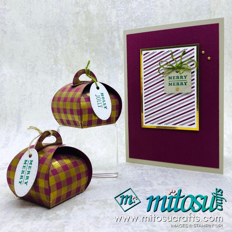 Tiny Keepsakes and Miny Curvy Keepsakes Box Stampin Up! Christmas Projects for The Gentlemen Crafters Design Team Hop #TGCDT from Mitosu Crafts