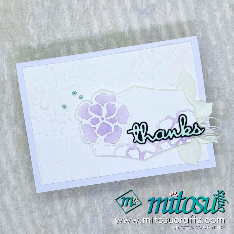 Thanks Wild Rose Dies by Stampin Up! Card Idea for Paper Craft Crew from Mitosu Crafts