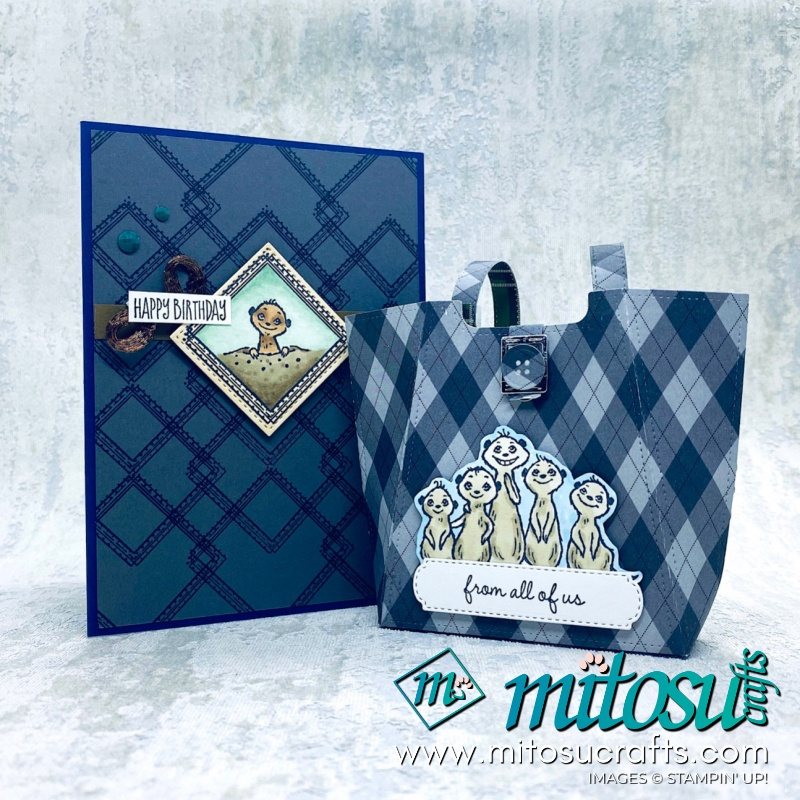 Gang's All Meer Stampin' Up SAB Papercraft Gift Bag Inspiration for The Gentlemen Crafters Design Team Hop from Mitosu Crafts